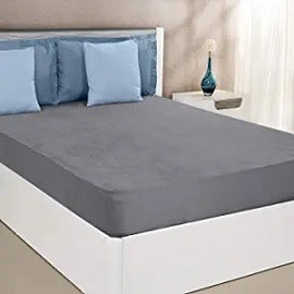 Solimo Waterproof Terry Cotton Mattress Protector