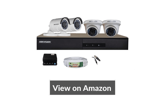 Hikvision kit 2Megapixel camera combo, 4 Dome and 4 Bullet cameras