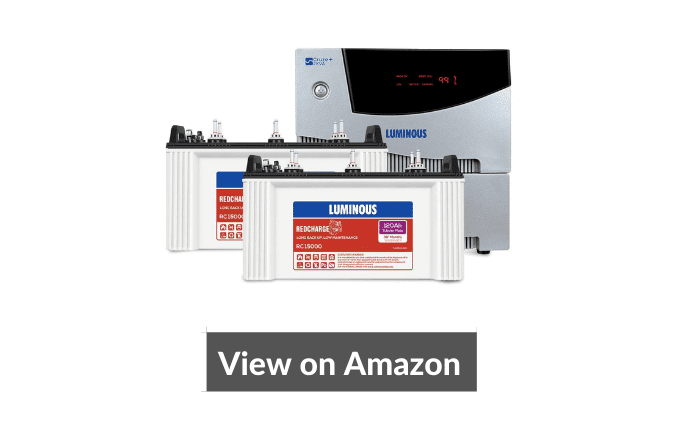 Luminous Cruze+ 2KVA Pure Sine Wave Inverter with Recyclable Tubular Inverter Battery